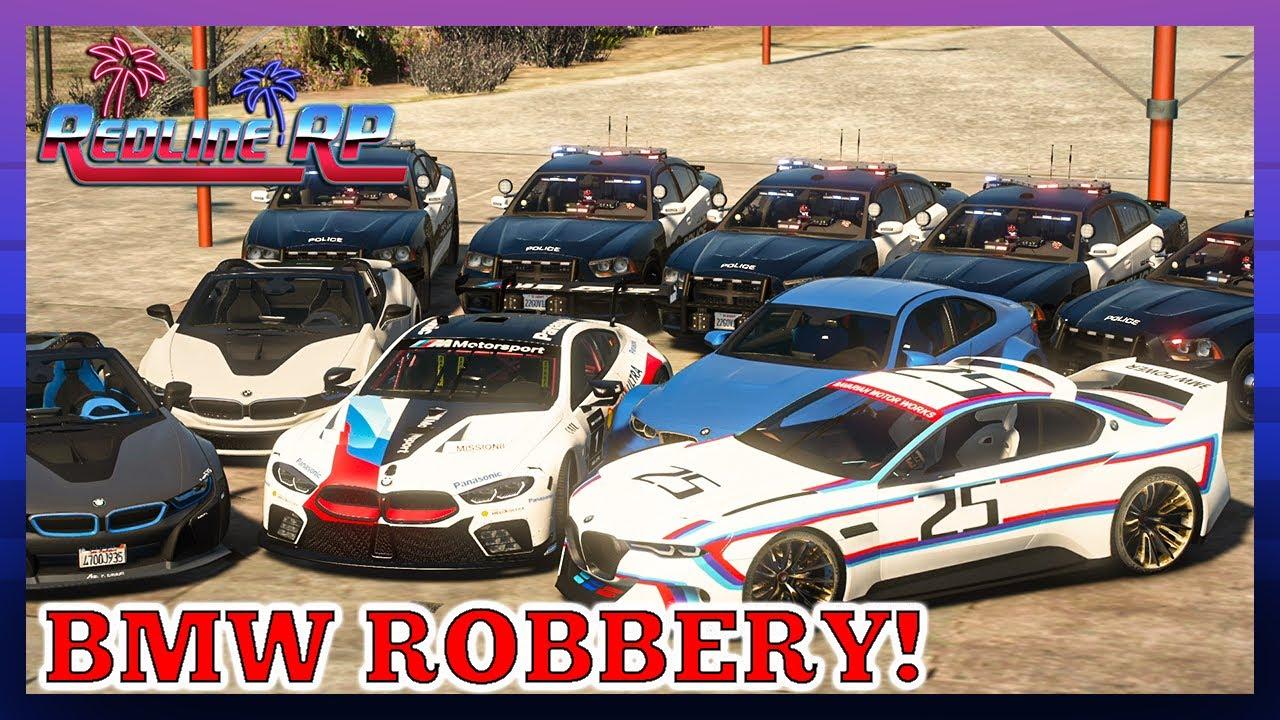 GTA 5 Roleplay - RedlineRP -  BMW DEALERSHIP ROBBERS  # 340