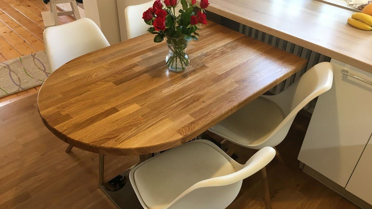 Diy oak kitchen table dubovy stol do kuchyne youtube for Table 80x120
