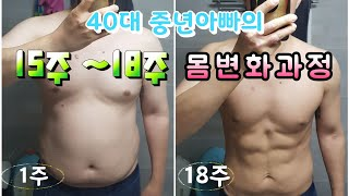 다이어트 유지 동기부여하는 중년아빠의 15주 - 18주…