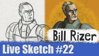 Bill Rizer - Contra Shattered Soldier - Wednesday Lunch Live Sketch#22