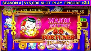 88 Fortunes DIAMOND Slot Machine MAJOR JACKPOT & HUGE WIN  | Season 4 | Episode #21