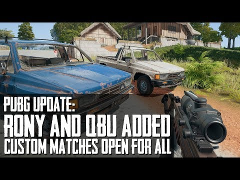 PUBG Update #18 | NEW Vehicle and Weapon, Custom Games Open For EVERYONE!