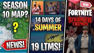 New Map Hints, Stranger Things Skins, 14 Days of Summer LTMs, Reward! (Fortnite News)