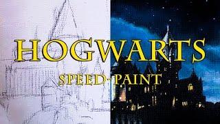 Hogwarts speed-paint (acrylic paint)
