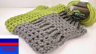 Двойной снуд переход с зимы на весну вязание крючком
