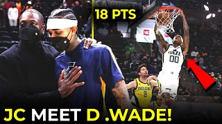 Jordan Clarkson 18pts vs Pacers, PINAHANGA si Dwyane Wade! Slam Dunk for JC! | Jazz WIN!