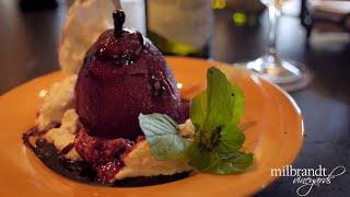 """pair This"" Christmas Dessert W Wine Reduction Sauce"