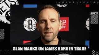 Sean Marks on the Nets-Rockets trade for James Harden & Kyrie Irving's absence | NBA on ESPN