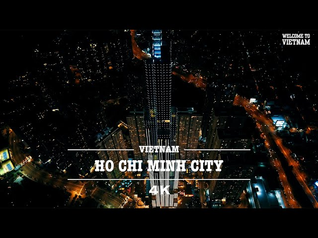 Ho Chi Minh City At Night By Drone (4K)