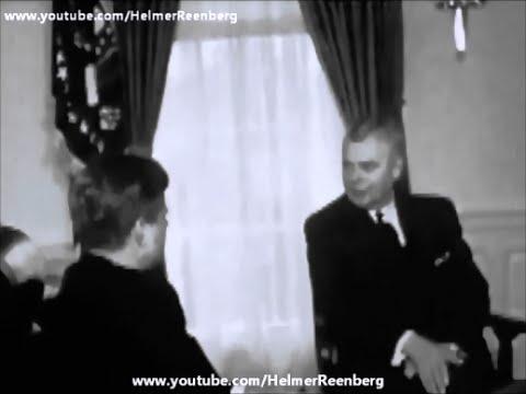 February 20, 1961 - President John F. Kennedy meets John G. Diefenbaker, Prime Minister of Canada