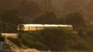 43013 + 43014 Network Rail HST, @ Newton st Loe, Bath 08-08-13