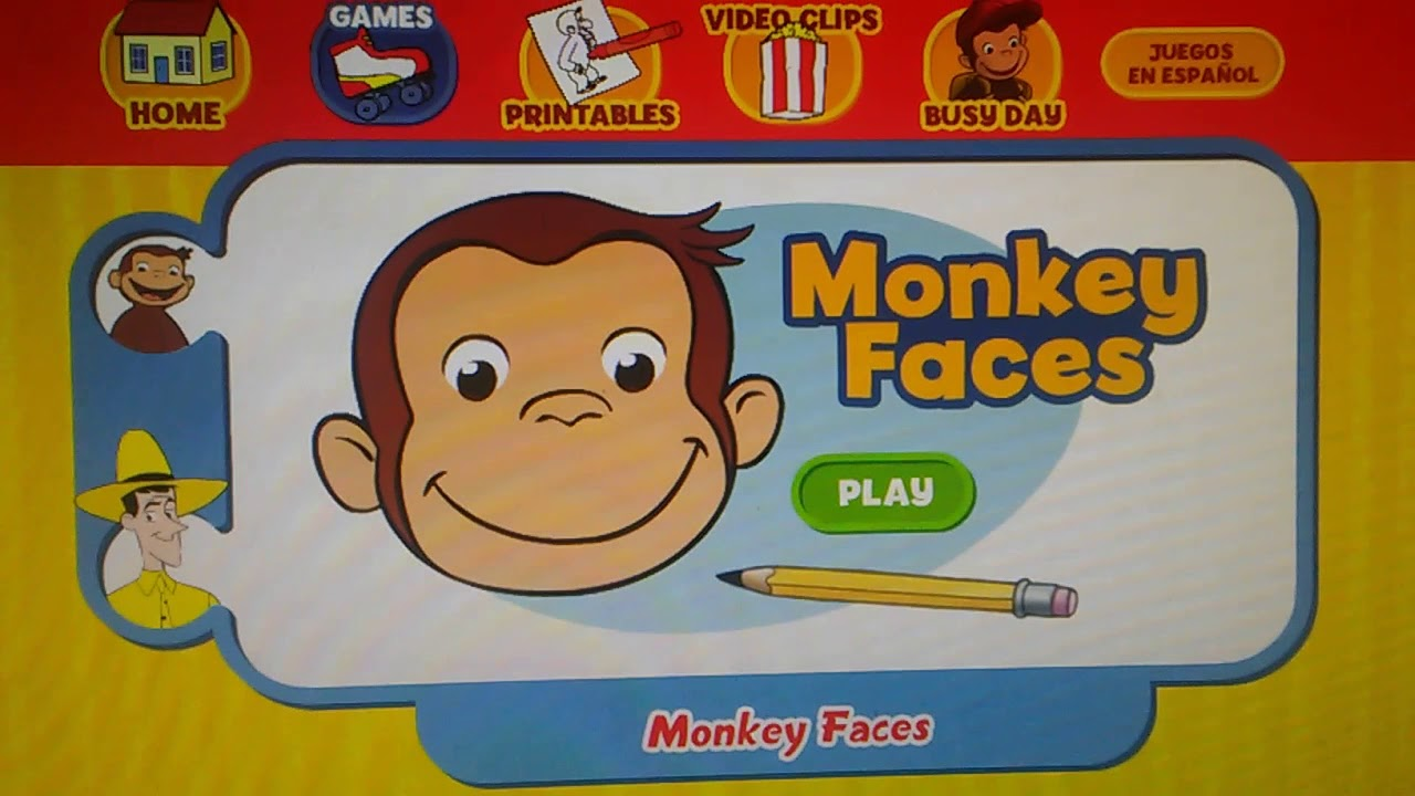 Curious George Monkey Faces Game Pbs Kids Youtube