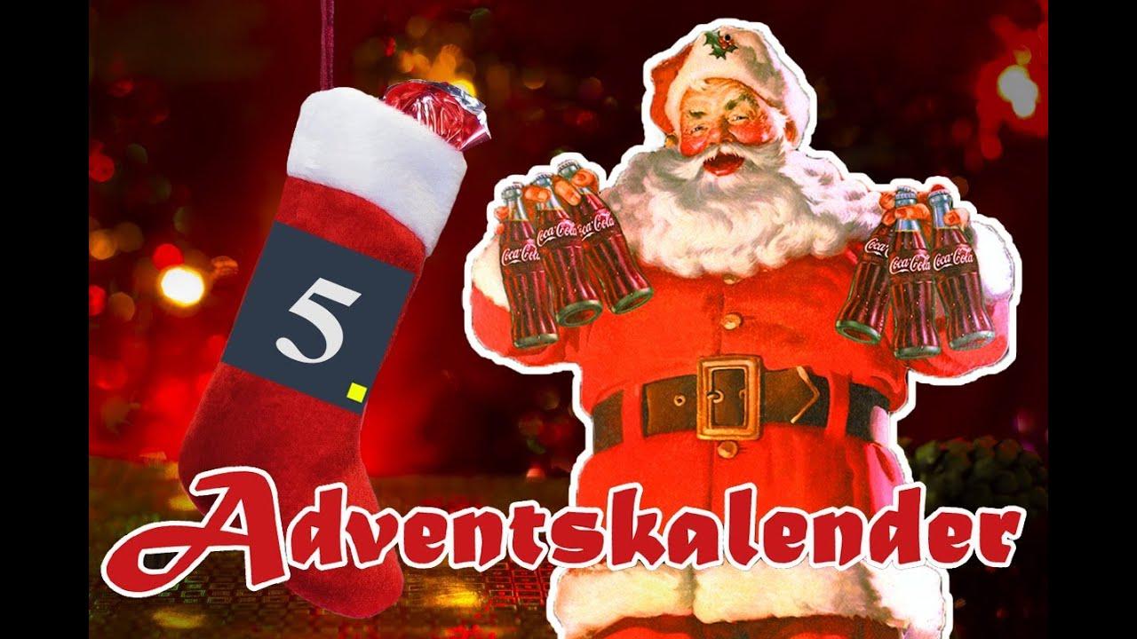 coca cola erfand den weihnachtsmann kwink kl rt auf das 5 t rchen des sg adventskalenders