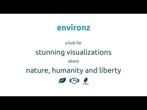environz - stunning visualizations about nature, humanity and liberty