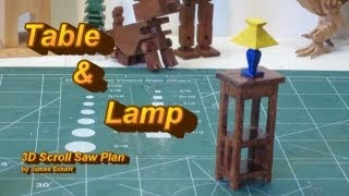 Making A 3d Table And Lamp On The Scroll Saw