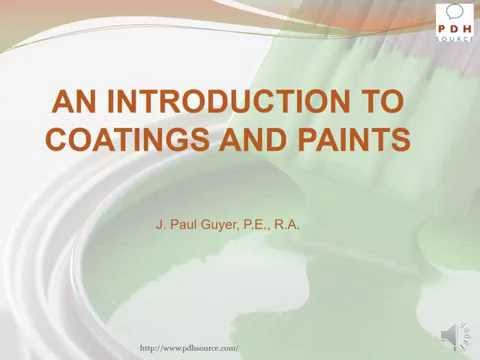 Introduction to Coatings and Paints