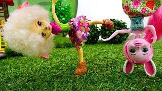 Куклы Энчантималс делают зарядку. Видео для девочек.