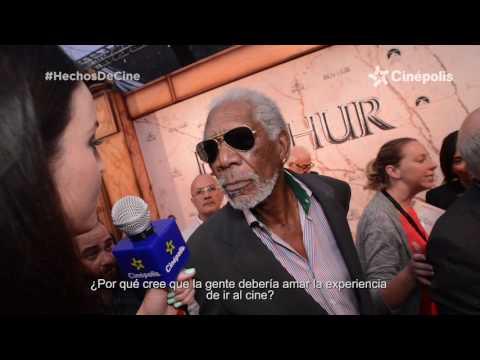 Morgan Freeman en la premiere de Ben-Hur