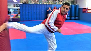 Martial Arts Fitness Training Workout Kicking Taekwondo with Andre Lima