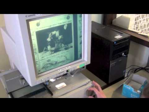 Canon 300II Microfilm Scanner Tutorial
