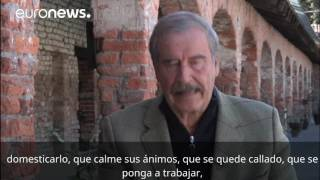 El expresidente mexicano Vicente Fox explica su #fuckingwall a Trump