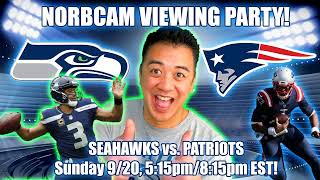 Seahawks vs. Patriots: (false start) Live Fan Reaction with Play-by-Play (NorbCam Reacts)