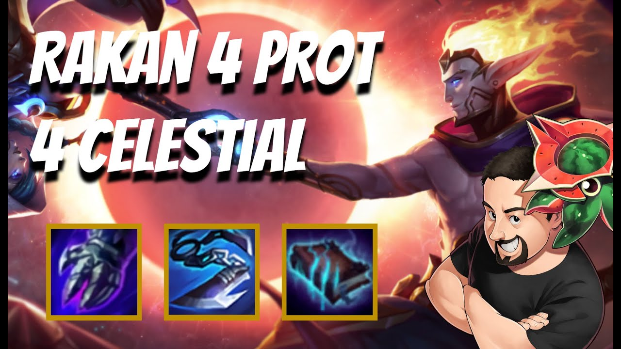 Rakan Carry 4 Prot 4 Celes | TFT Galaxies | Teamfight Tactics
