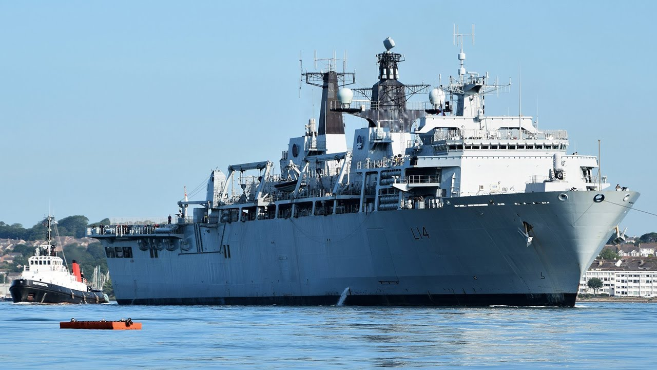 HMS Albion trials and training