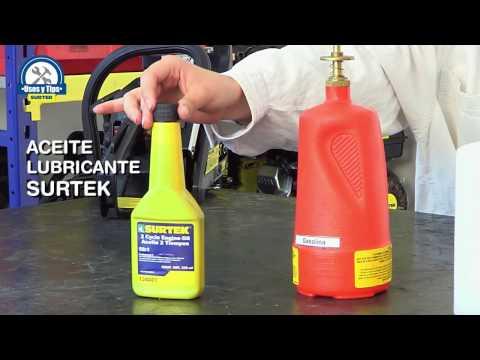 ¿Cómo mezclar correctamente el combustible para motor de 2 t