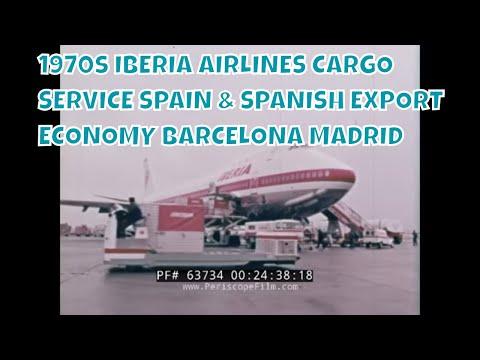 1970s IBERIA AIRLINES CARGO SERVICE  SPAIN & SPANISH EXPORT ECONOMY BARCELONA MADRID  63734