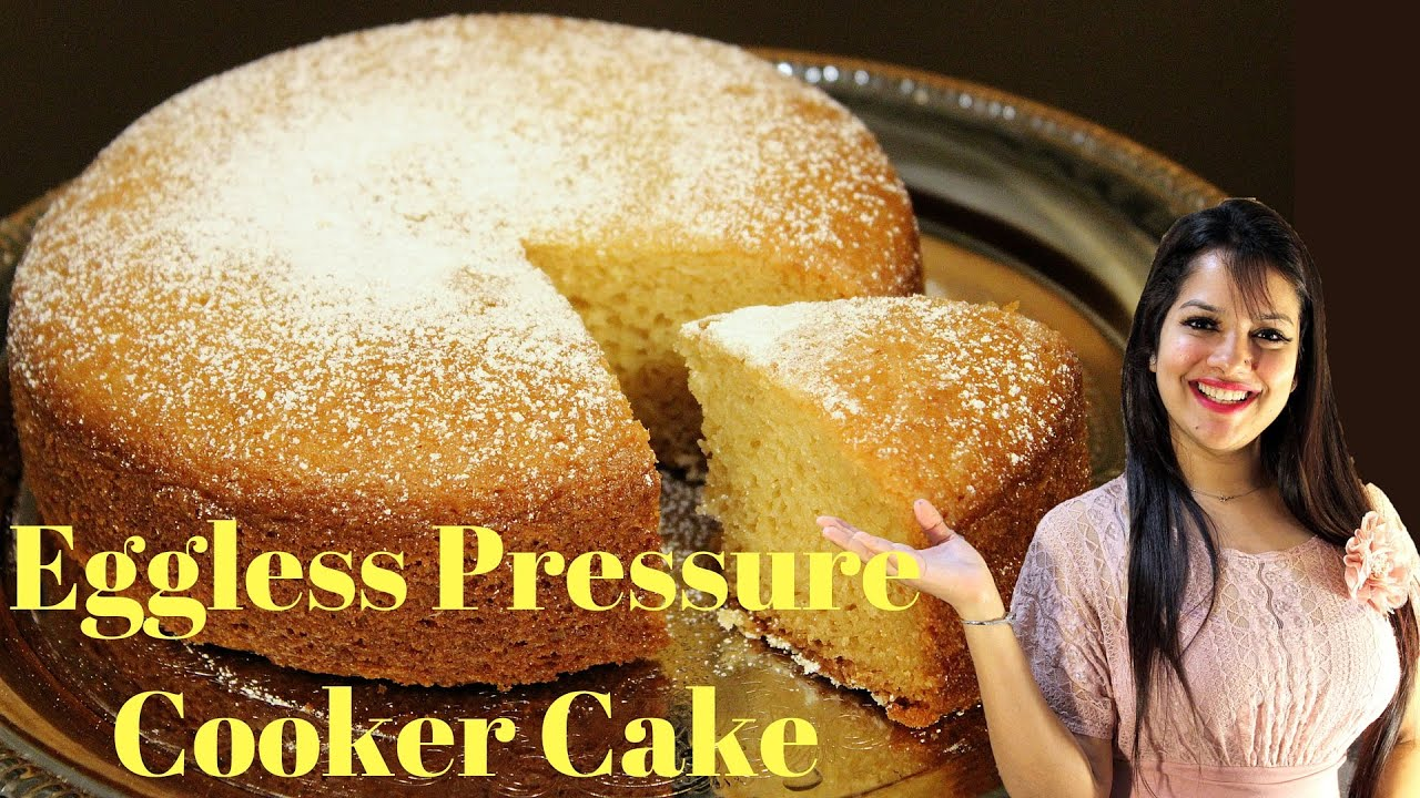 Eggless Vanilla Cake Recipes In Pressure Cooker: Super Moist Eggless Cooker Cake
