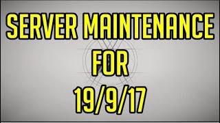 Destiny 2 Server Maintenance for 19/9/17 (Maintenance Times + Length)