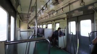 【タイ】 タイ国鉄 メークローン線 車内風景 Maeklong Railway, Thailand ทางรถไฟสายแม่กลอง (2017.3)