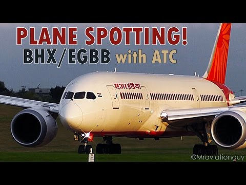 A Beautiful September Evening Plane Spotting, Birmingham Airport | BHX/EGBB (With ATC)