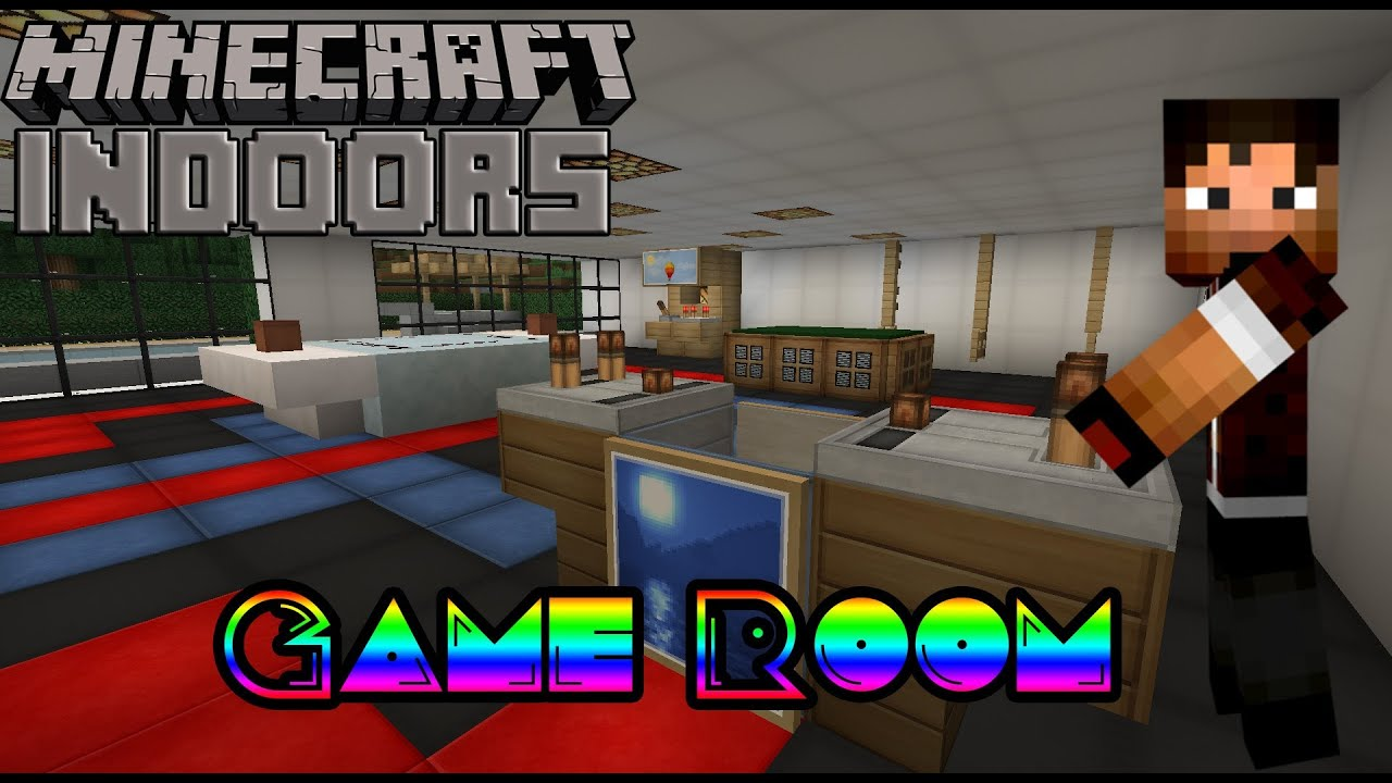 How to build a game room minecraft indoors interior How to make a gaming setup in your room