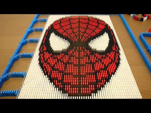 Spider-Man in 10,000 Dominoes!