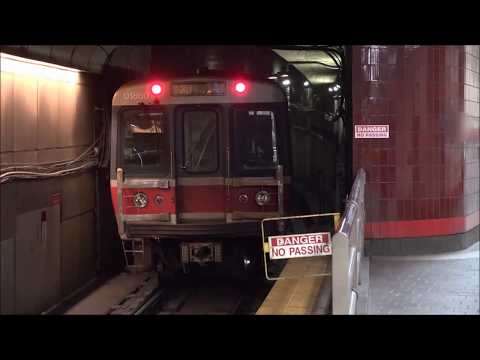 THE TRAINS OF MBTA RED LINE SUBWAY
