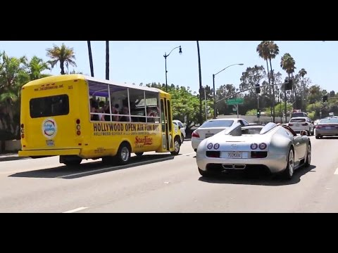 ARNOLD SCHWARZENEGGER's Bugatti Veyron Vitesse on the Road in Beverly Hills!