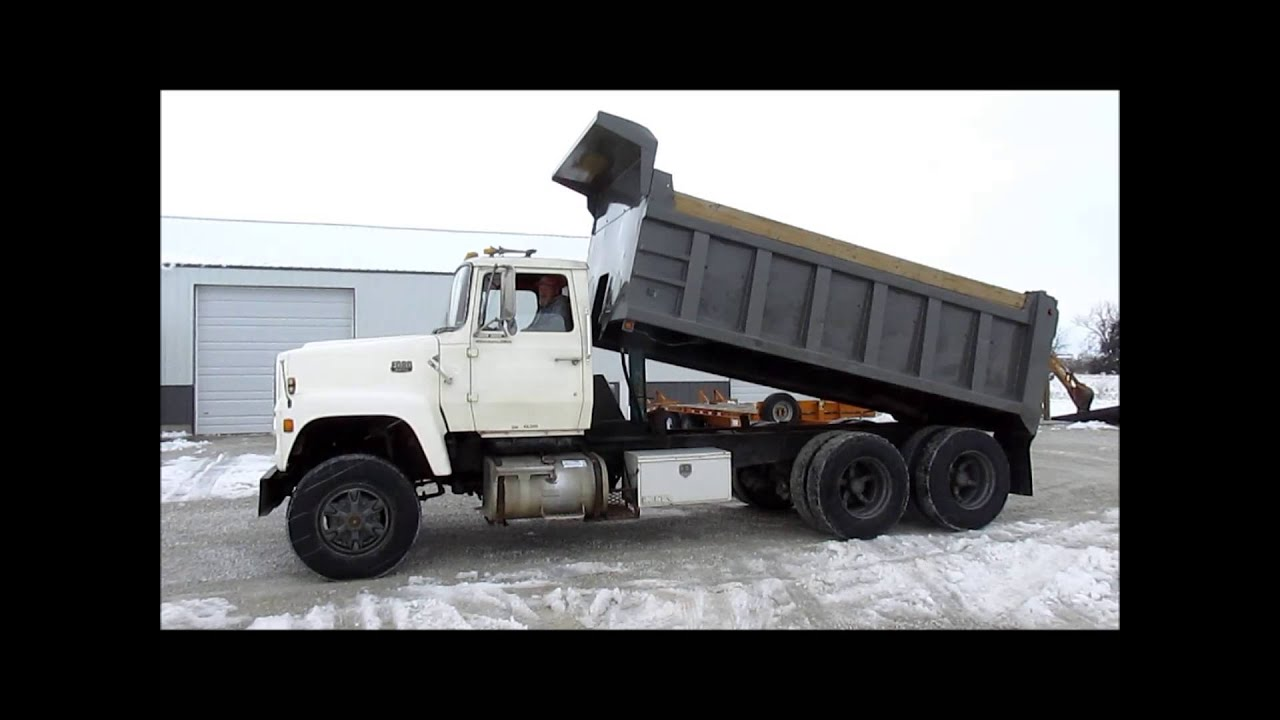 Tri Axle Truck For Sale >> 1979 Ford dump truck for sale | sold at auction March 28, 2013 - YouTube