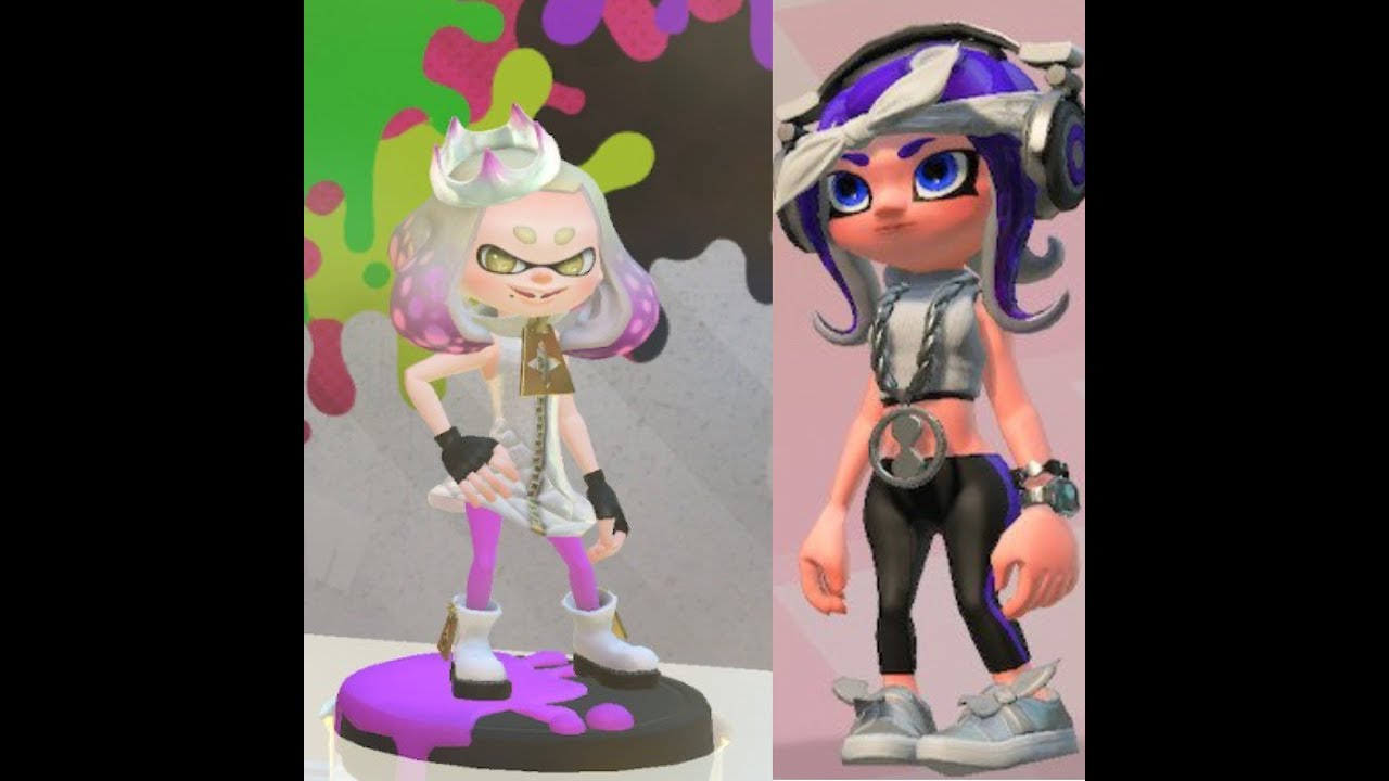 Splatoon 2 Every Gear From The Marina And Pearl Amiibo Selfies Too Youtube