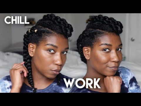 2-ways---simple-protective-hairstyle-|-natural-hair