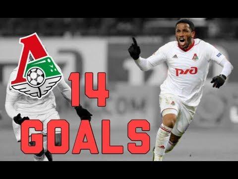 Jefferson Farfán • All 14 Goals • Todos Sus 14 Goles Con El Lokomotiv Moscú