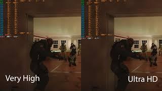 Rainbow Six Siege Very High Vs Ultra HD Textures I9-9900k | RTX 2080TI
