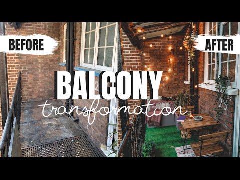 BALCONY MAKEOVER | SMALL RENTER FRIENDLY | SMALL TERRACE BUDGET TRANSFORMATION LONDON UK
