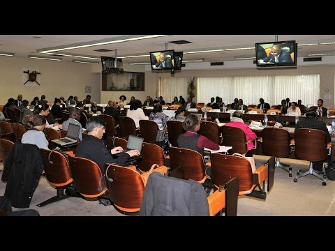 Session sur l'Initiative E15 pendant la réunion des ministres ACP du Commerce