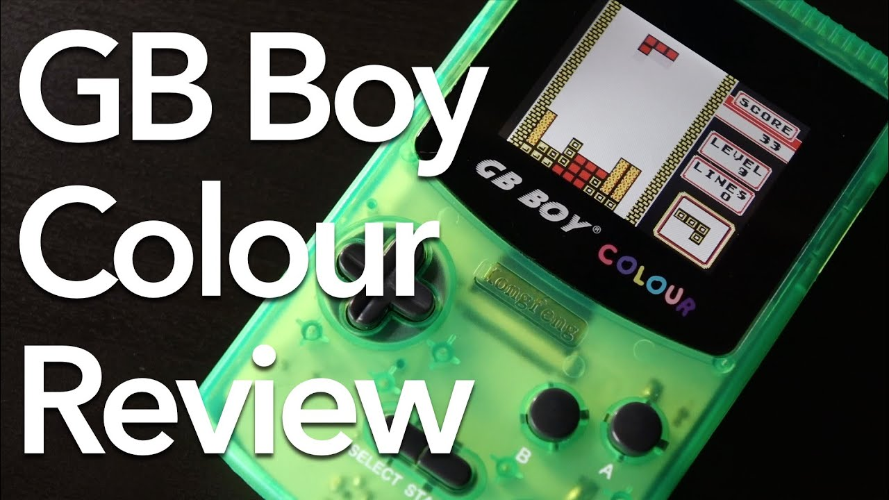 kong feng gb boy colour game boy color clone review youtube - Picture Of A Boy To Color