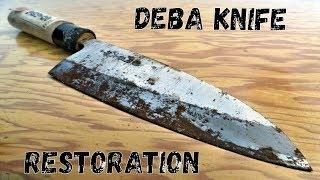 Restoring Deba. Japanese Kitchen Knife Restoration