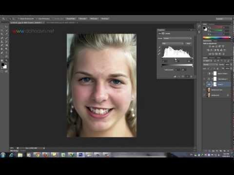 Học photoshop - Kỹ thuật tẩy mụn Làm mịn da và Cân chỉnh ánh sáng