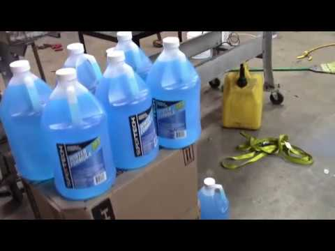 HOW TO Fill Tractor tires with windshield washer fluid FAST! Using a diaphragm pump