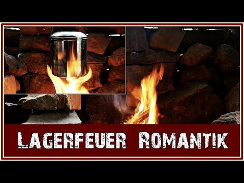 Lagerfeuer im Waldgarten Shelter / Fireplace / Relaxing Nature / Bushcraft - Campfire